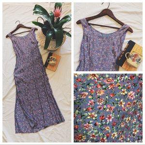 Vintage Floral Petite Purple Dress